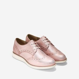 Cole Haan Rose Gold Wingtip OG Oxfords